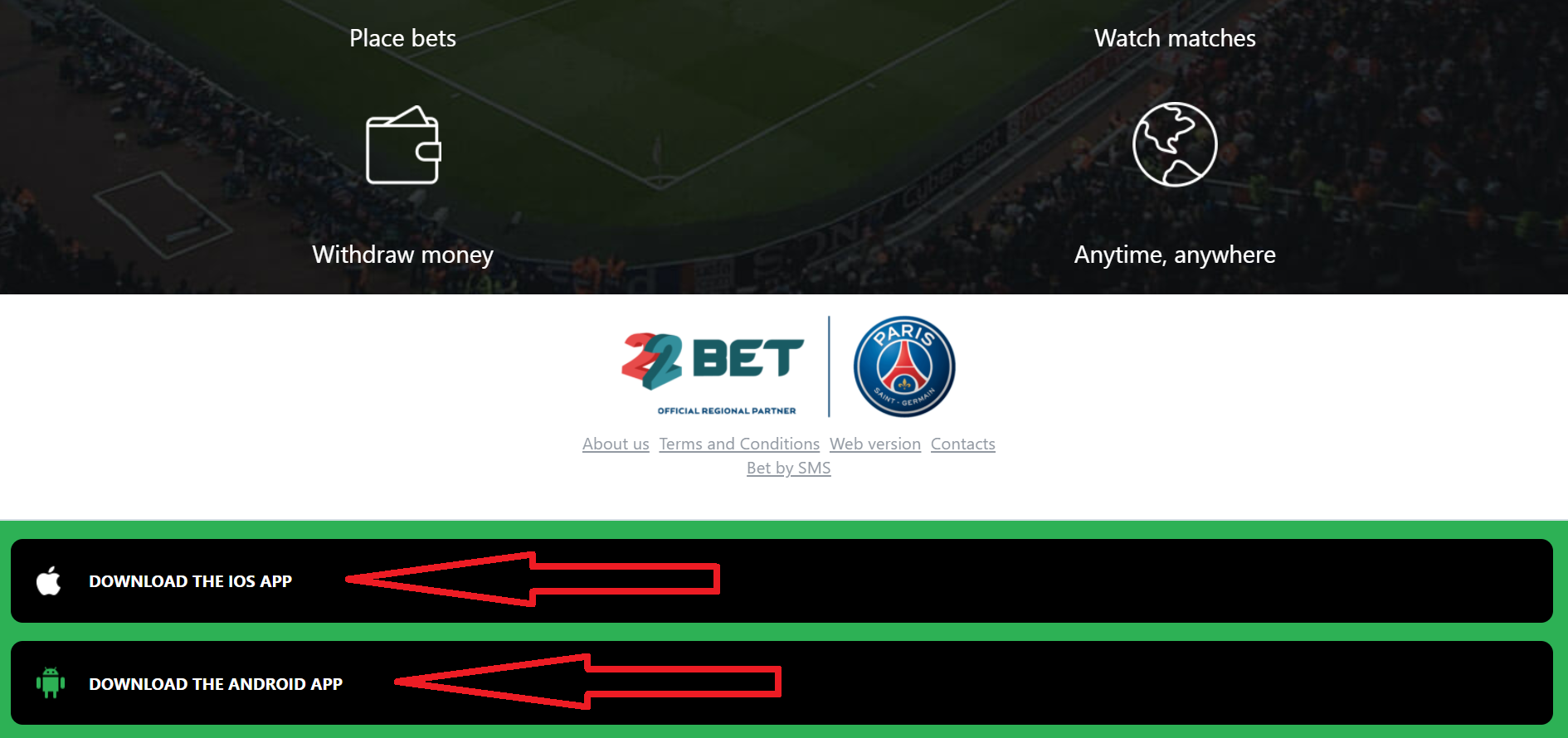 Top facts how to register 22bet via SMS